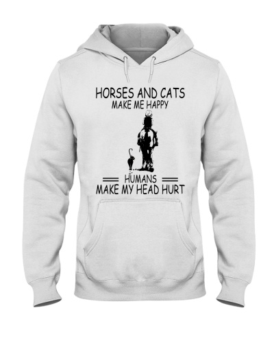 Horses And Cats Make Me Happy