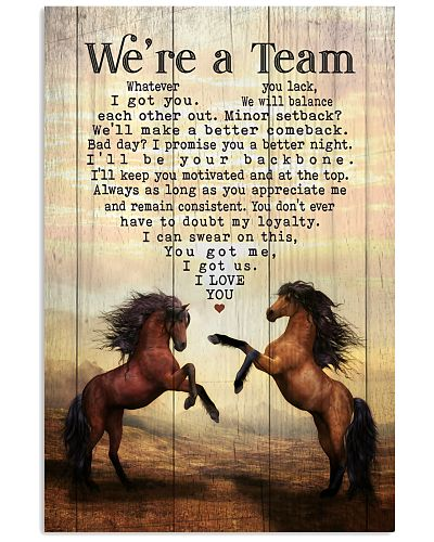 Horse - We're A Team Two Jumping Horses