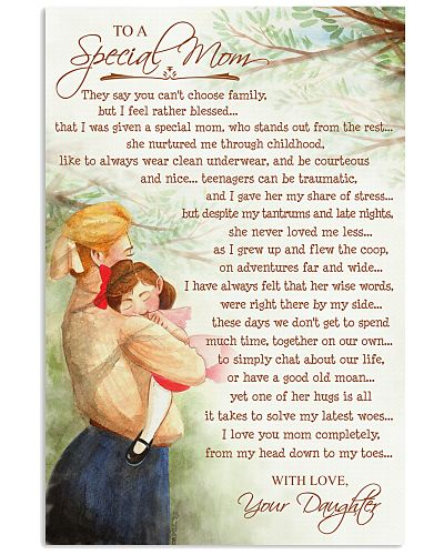 To A Special Mom - Mother Daughter