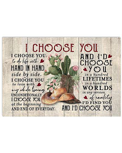 Country - Cowboy Cactus I Choose You
