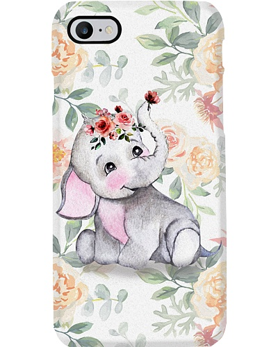 Elephant - Elephant With Pink Blooms