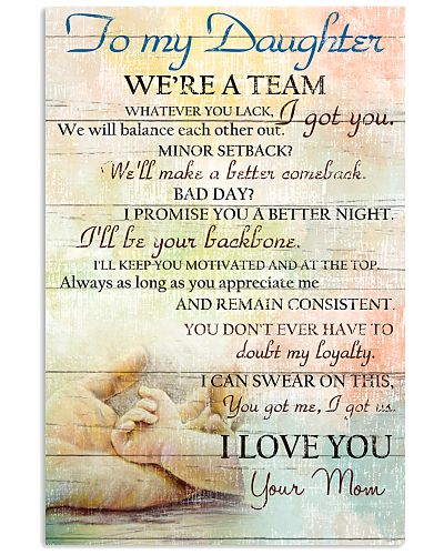 Mother Daughter - We Are A Team - Poster