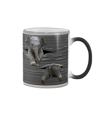 Elephant - Cute Bottom - Mug