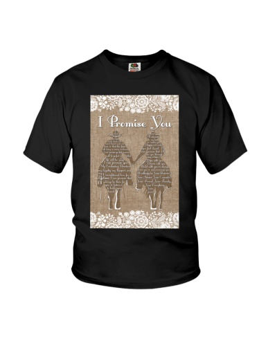 Country- I Promise You Riding Horse Burlap Style