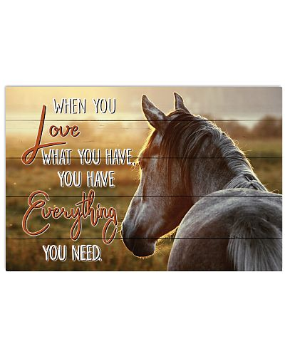 Horse - When You Love What You Have