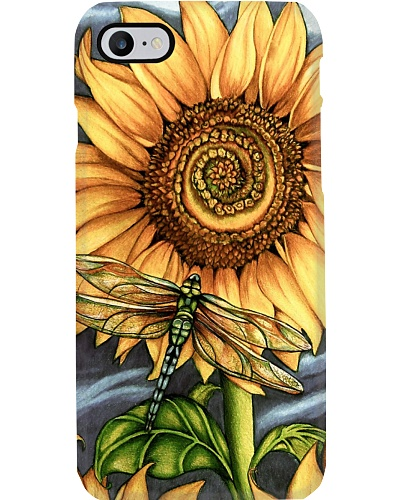 Dragonfly - Sunflower - Smelling - Phonecase