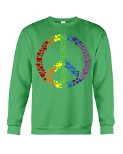 Peace Sign Rainbow Hearts Crewneck Sweatshirt tile