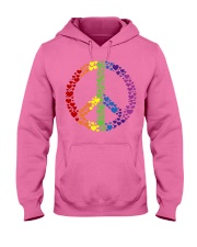 Peace Sign Rainbow Hearts Hooded Sweatshirt tile