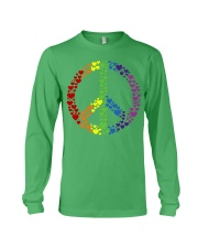 Peace Sign Rainbow Hearts Long Sleeve Tee thumbnail