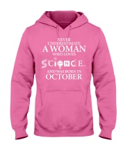 OCTOBER WOMAN LOVE SCIENCE Hooded Sweatshirt tile