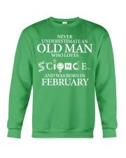 FEBRUARY OLD MAN LOVES SCIENCE Crewneck Sweatshirt thumbnail
