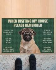 "Please Remember Pug House Rules Doormat Doormat 22.5"" x 15""  aos-doormat-22-5x15-lifestyle-front-10"