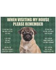 "Please Remember Pug House Rules Doormat Doormat 22.5"" x 15""  front"