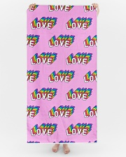 Love Is Love Beach Towel aos-tc-beach-towels-lifestyle-front-04