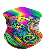 Peace and Love Neck Gaiter front