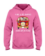 A Girl And Her Animals Living Life In Peace 2 Hooded Sweatshirt thumbnail