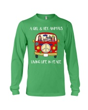 A Girl And Her Animals Living Life In Peace 2 Long Sleeve Tee thumbnail