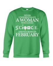 FEBRUARY WOMAN LOVE SCIENCE Crewneck Sweatshirt thumbnail