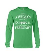 FEBRUARY WOMAN LOVE SCIENCE Long Sleeve Tee thumbnail