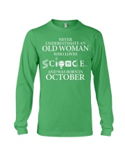 OCTOBER OLD WOMAN LOVES SCIENCE Long Sleeve Tee thumbnail