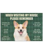 """Please Remember Corgi House Rules Doormat Doormat Doormat 22.5"""" x 15""""  front"""