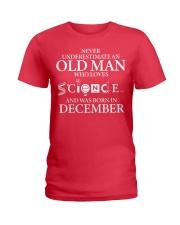 DECEMBER OLD MAN LOVES SCIENCE Ladies T-Shirt thumbnail