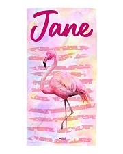Flamingo Beach Towel front