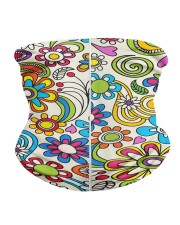 Peace and Love Neck Gaiter back