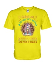 Taurus Girl The Soul Of A Witch V-Neck T-Shirt thumbnail