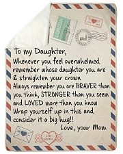 "To my Daughter Large Sherpa Fleece Blanket - 60"" x 80"" thumbnail"
