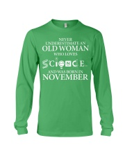NOVEMBER OLD WOMAN LOVES SCIENCE Long Sleeve Tee thumbnail