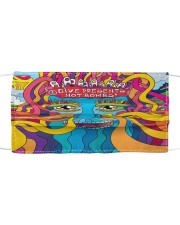 Peace and Love Cloth face mask front