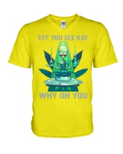 EFF YOU SEE KAY WHY OH YOU V-Neck T-Shirt thumbnail