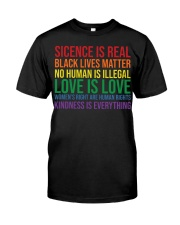 Science Is Real Black Lives Matter Classic T-Shirt front