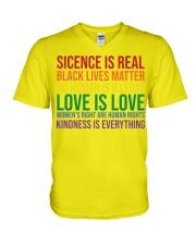 Science Is Real Black Lives Matter V-Neck T-Shirt thumbnail