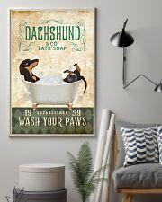 Dachshund Bath Soap 11x17 Poster lifestyle-poster-1