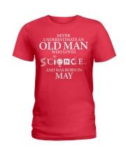 MAY OLD MAN LOVES SCIENCE Ladies T-Shirt thumbnail