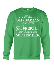 SEPTEMBER OLD WOMAN LOVES SCIENCE Crewneck Sweatshirt thumbnail
