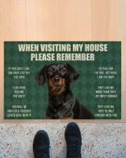 "Please Remember Dachshund House Rules Doormat Doormat 22.5"" x 15""  aos-doormat-22-5x15-lifestyle-front-10"