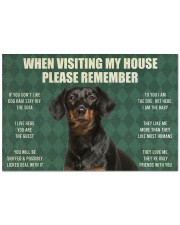 "Please Remember Dachshund House Rules Doormat Doormat 22.5"" x 15""  front"