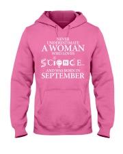 SEPTEMBER WOMAN LOVE SCIENCE Hooded Sweatshirt thumbnail