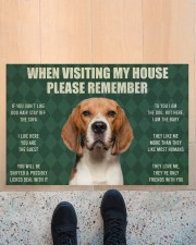 "Please Remember Beagle House Rules Doormat Doormat 22.5"" x 15""  aos-doormat-22-5x15-lifestyle-front-10"