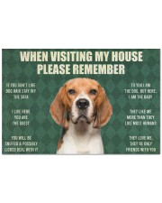 "Please Remember Beagle House Rules Doormat Doormat 22.5"" x 15""  front"