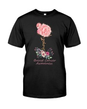 Rose Breast Cancer Awareness Classic T-Shirt front