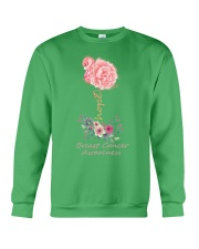 Rose Breast Cancer Awareness Crewneck Sweatshirt thumbnail
