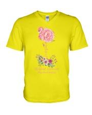 Rose Breast Cancer Awareness V-Neck T-Shirt thumbnail