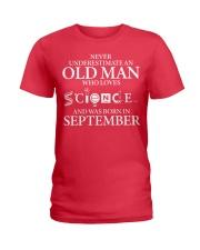 SEPTEMBER OLD MAN LOVES SCIENCE Ladies T-Shirt thumbnail