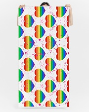 Love Is Love Beach Towel aos-tc-beach-towels-lifestyle-front-05