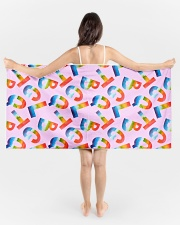 Love Is Love Beach Towel aos-tc-beach-towels-lifestyle-front-01