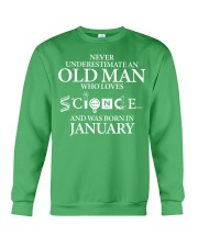 JANUARY OLD MAN LOVES SCIENCE Crewneck Sweatshirt thumbnail